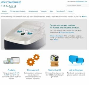 Looking for a Touch Screen Interface?   Reach Technology