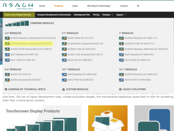 Reach Technology Display Module Download